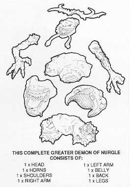 Great Unclean One construction diagram (1st release)