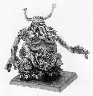 Example of a completed model of a Great Unclean One (1st release)