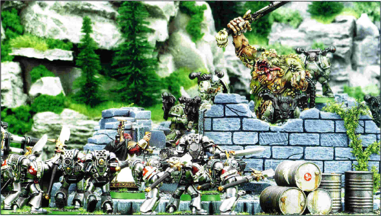 Nurgle forces versus Grey Knights