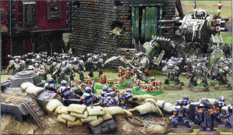 Death Guard versus Imperial Guard