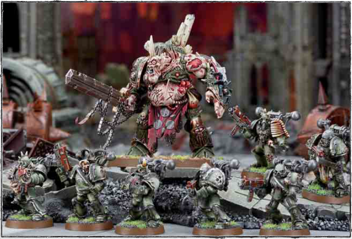 Daemon Prince and Plague Marines