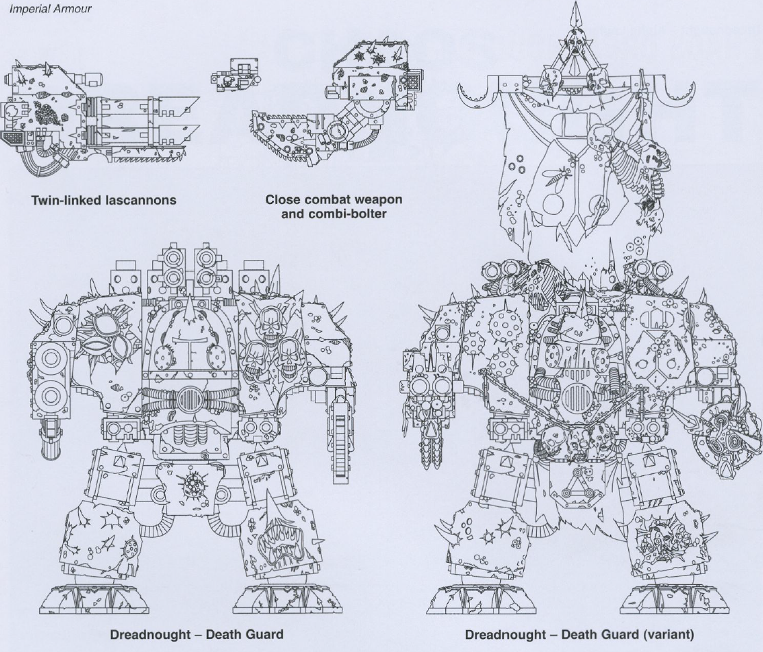 Death Guard Dreadnoughts