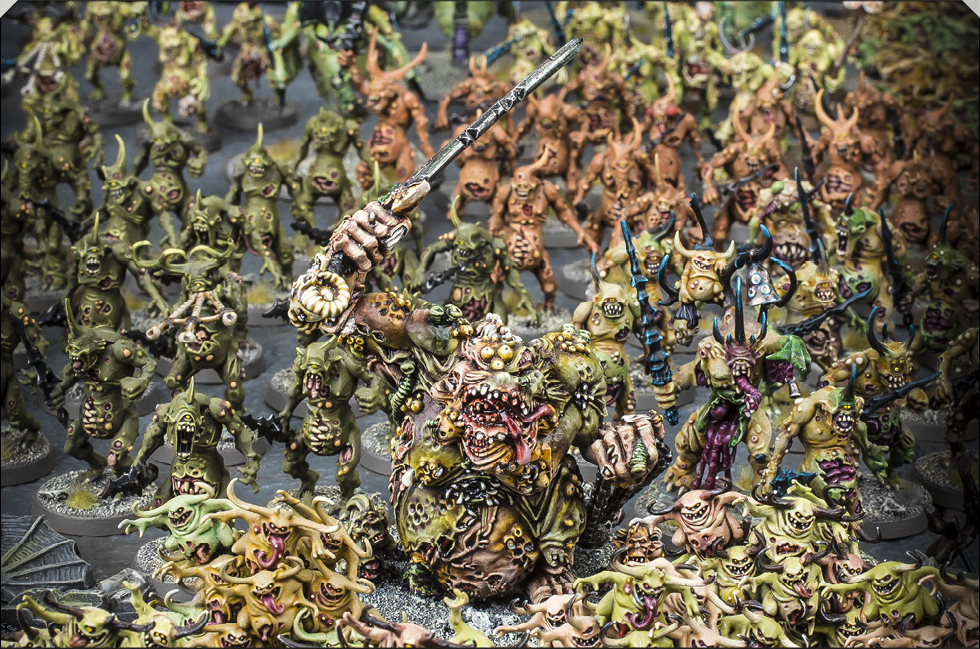 An army of Nurgle Daemons